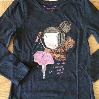[teadystock] Primark Girls LS tshirt (size 4-5y)