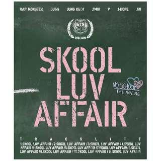 BTS BANGTAN BOYS - Skool Luv Affair (2nd Mini Album) CD+Photobook+Photocard+Extra Photocards Set