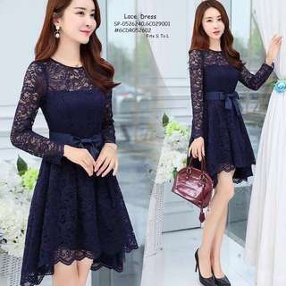 LACE DRESS Fits S To L  Price : 400