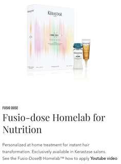 Kerastase Fusio dose Homelab vitacimen with nutrition booster