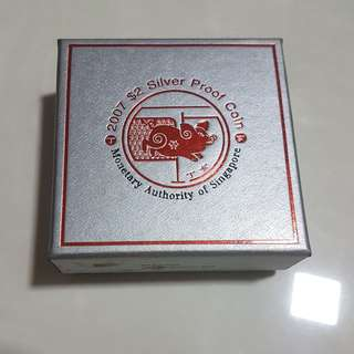 2007 $2 Lunar Year of the Pig 20 gm 999 Fine Silver Proof Coin