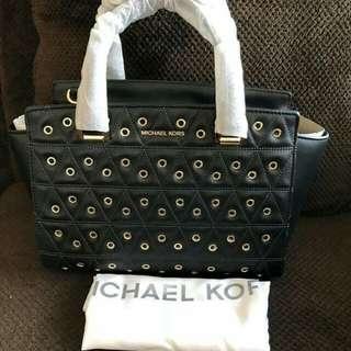 MICHAEL KORS Selma embellished medium satchel black