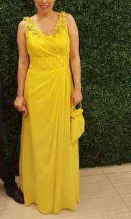 Canary Yellow gown by Zandra Lim