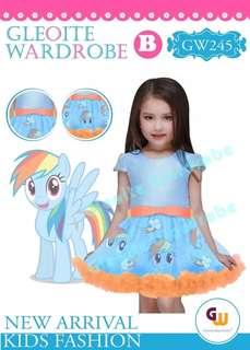 Gaun anak liltle pony