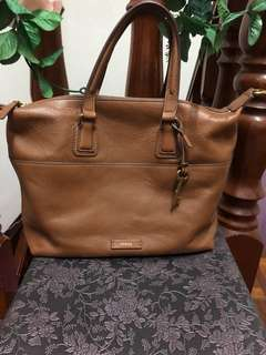 Fossil Julia Satchel in Cognac