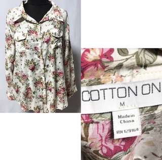 Cotton On Floral Long Sleeves