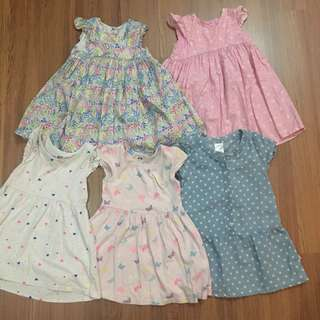 MOTHERCARE, H&M, ANAKKU Girl Dresses 1-2 Years