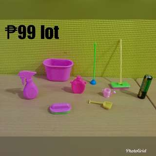 Cleaning set for barbie