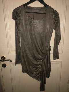Dress Coklat Metalik