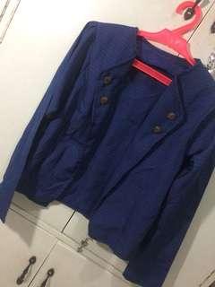 Blue Plaid Blazer