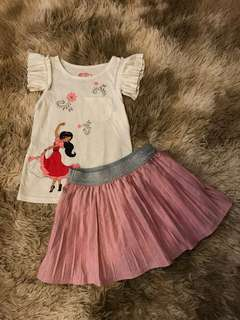 Elena of Avalor 2pc skirt set