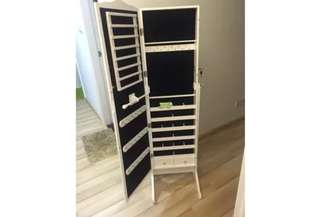 STANDING MIRROR WITH STORAGE COMPARTMENT