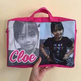 Personalized portfolio bag