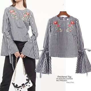 CHECKERED TOP Fits S To L  Price : 350