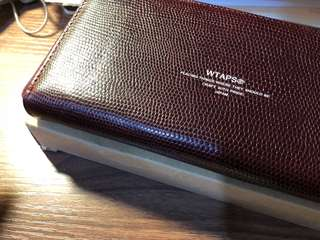 Wtaps Long Leather Wallet Burgundy