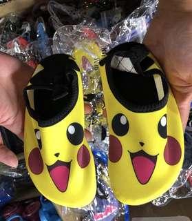 韓版比卡超兒童防水沙灘鞋Pokemon pikachu