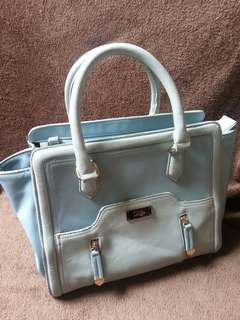 Ans Hand bag baby blue satchel