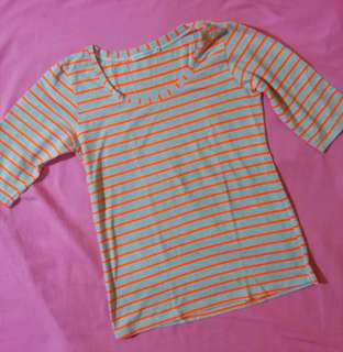 Gray-Tangerine Half sleeves