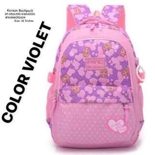 KOREAN BACKPACK Size: 16 Inches  Price : 650