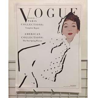 1953年原版 vintage Vogue cover 雜誌封面 絕版稀有