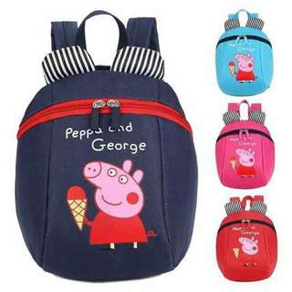🌸New Peppa Anti-lost kids bag