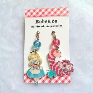 愛麗絲妙妙貓耳環