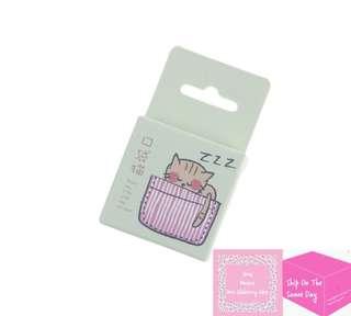 Set of 45pcs Cute Kitten In The Basket Sticker Pack
