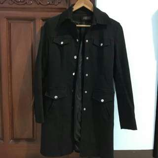 Black Denim Coat Jacket