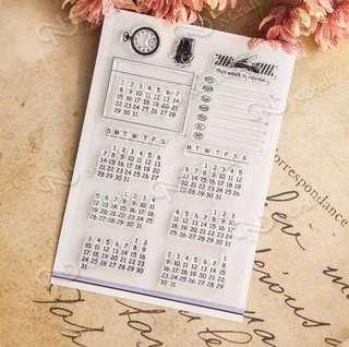 Calendar Clear Stamp