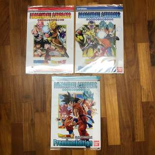 Dragonball Premium Carddass Limited Edition Prism Cards Set