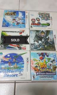 Used 3DS games!