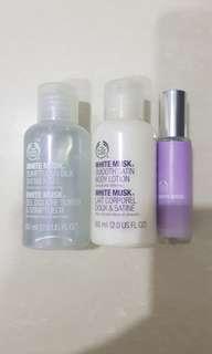 The Body Shop white musk travel set