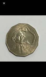{Collectibles Item - Vintage Coin} 1970 Authentic Australia 50 Cents Queen  Elizabeth II Coin