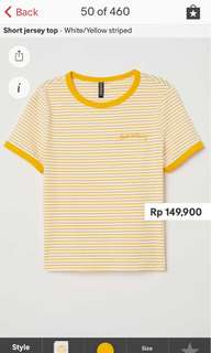 JASTIP H&M - Short jersey top
