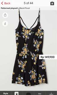 JASTIP H&M - playsuit patterned