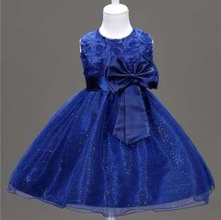 Girl princess puffy wedding dress