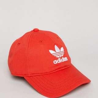 Adidas Original Trefoil Cap / Hat Red CF6326 OSFM ( One Size Fit Most )
