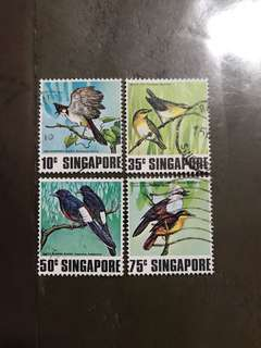 Singapore 1979 birds used stamps set of 4v