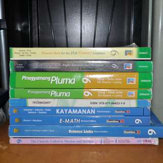 SELLING THIS GR. 9 K - 12 PRELOVED BOOKS