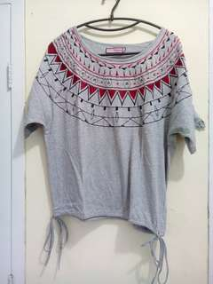 Grey tribal shirt