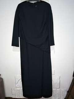 Uniqlo faux wrap maxi dress szL