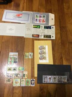 Vintage Singapore 25 yrs national building miniature sheet and world communication year 1983 n assorted stamps
