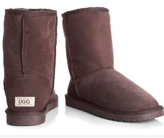 OZWEAR Connection Unisex Classic 3/4 Ugg Boot - Chocolate