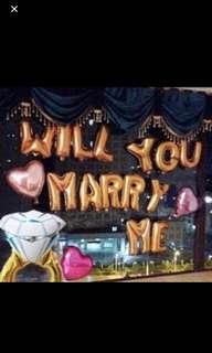 Will You Marry Me Foil Ballon, Proposal Ballon