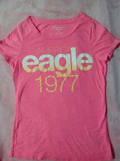 American eagle neon pink top