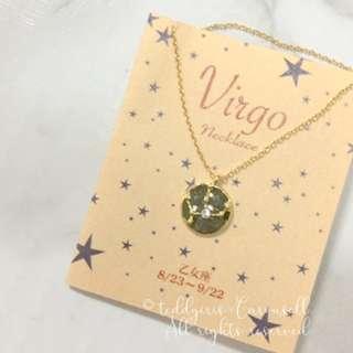 MADE IN JAPAN Horoscope Virgo Necklace 日本製處女座金色頸鍊