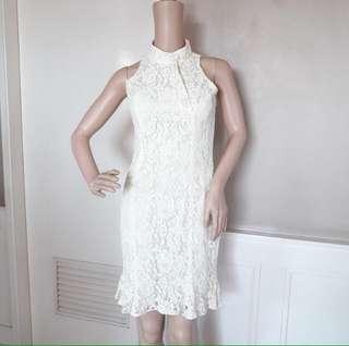 White Chinese Style Dress