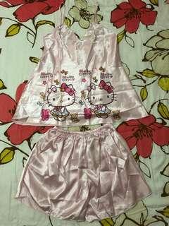 Pink hello kitty sleepwear
