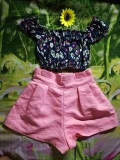 Hw flowy short pink
