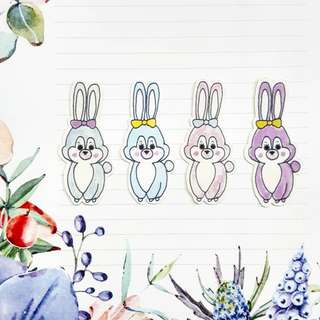 DIY Girl Bunny Stickers (RM2 for any 6)